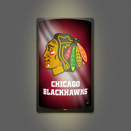Chicago Blackhawks MotiGlow Light Up Sign