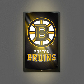 Boston Bruins MotiGlow Light Up Sign