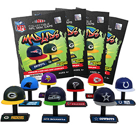 4 Blind Packs, Mad Lids NFL Series 1