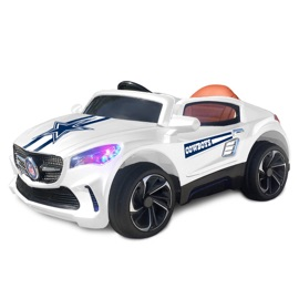 Dallas Cowboys Ride On Car - White