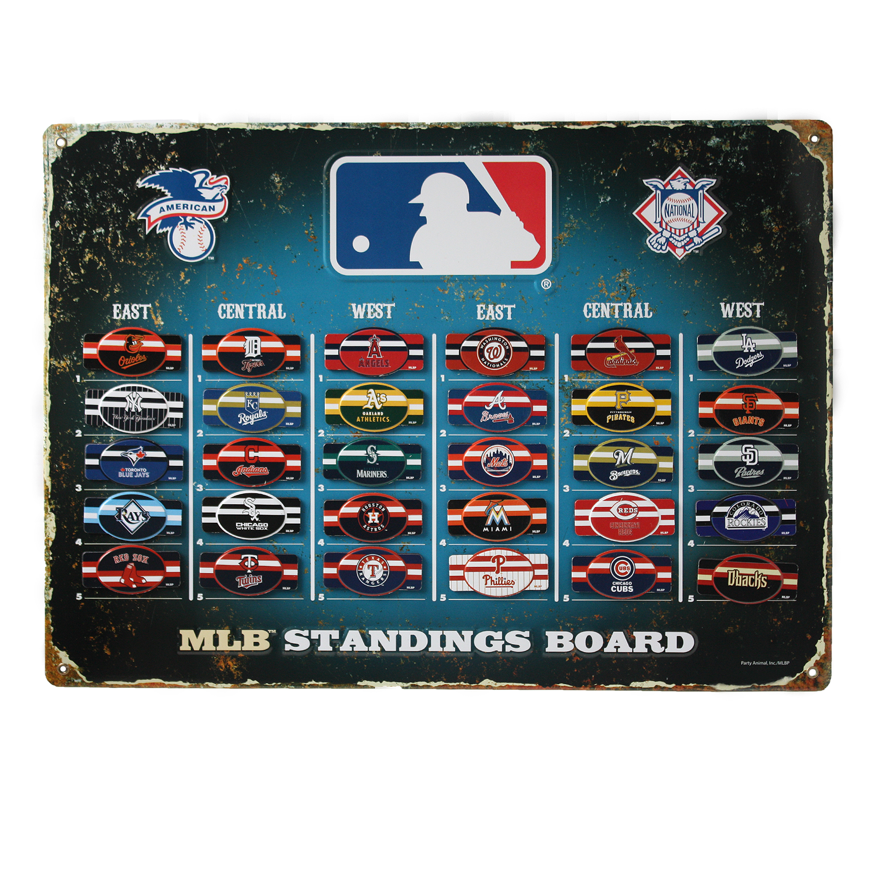 MLB Magnetic Standings Board