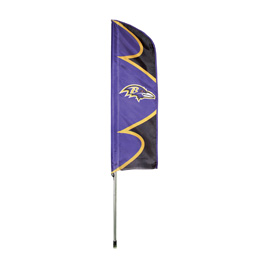 Baltimore Ravens Swooper Flag Kit with Pole