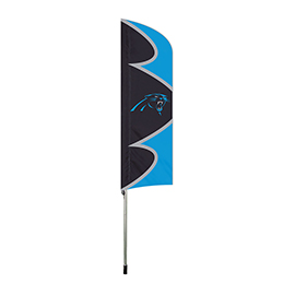 Carolina Panthers Swooper Flag Kit with Pole