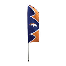 Denver Broncos Swooper Flag Kit with Pole
