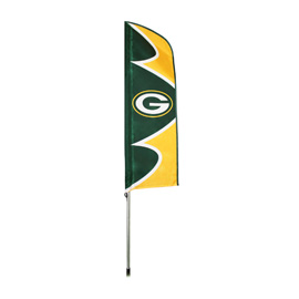 Green Bay Packers Swooper Flag Kit with Pole