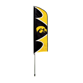Iowa Hawkeyes Swooper Flag Kit with Pole