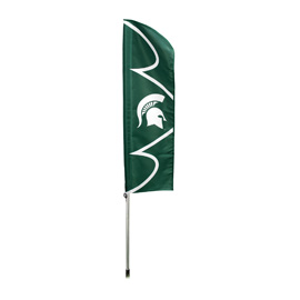 Michigan State Spartans Swooper Flag Kit with Pole