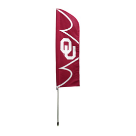 Oklahoma Sooners Swooper Flag Kit with Pole