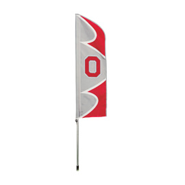 Ohio State Buckeyes Swooper Flag Kit with Pole