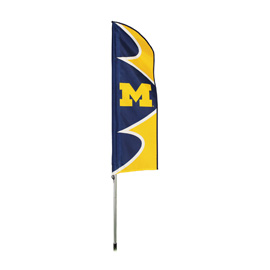 Michigan Wolverines Swooper Flag Kit with Pole