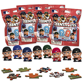 4 Blind Packs, TeenyMates MLB Series 3