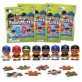 4 Blind Packs, TeenyMates MLB Series 4
