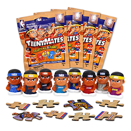 4 Blind Packs, TeenyMates NBA Series 2