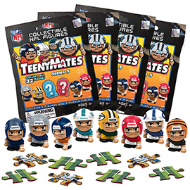 4 Blind Packs, TeenyMates NFL Series 5