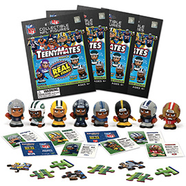 4 Blind Packs, TeenyMates NFL Series 6