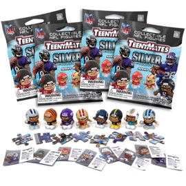 4 Blind Packs, TeenyMates NFL Series 9