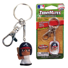 Atlanta Braves TeenyMate Tagalong Keychain