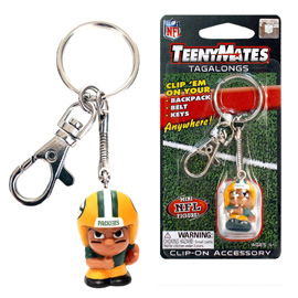 Green Bay Packers TeenyMates Tagalong Keychain
