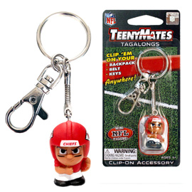 Kansas City Chiefs TeenyMates Tagalong Keychain