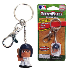 New York Yankees TeenyMate Tagalong Keychain