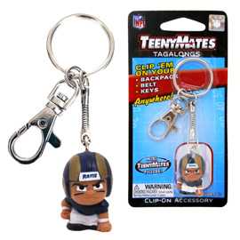 Los Angeles Rams TeenyMates Tagalong Keychain