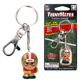 San Francisco 49ers TeenyMates Tagalong Keychain