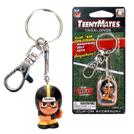 Pittsburgh Steelers TeenyMates Tagalong Keychain