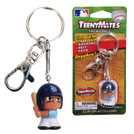 Tampa Bay Rays TeenyMate Tagalong Keychain