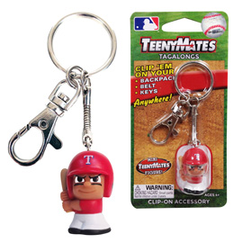 WWE Teenymates Tagalong Key Chain With Clip The Rock