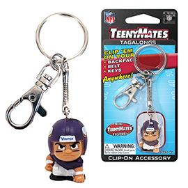 Minnesota Vikings TeenyMates Tagalong Keychain