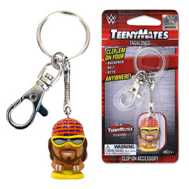 WWE Macho Man TeenyMates Tagalong Keychain