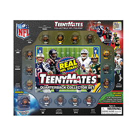 TeenyMates 15 Piece NFL Quarterback Collector Set