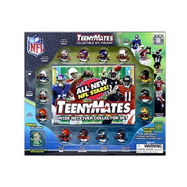 TeenyMates 15 Piece NFL Wide Receiver Collector Set