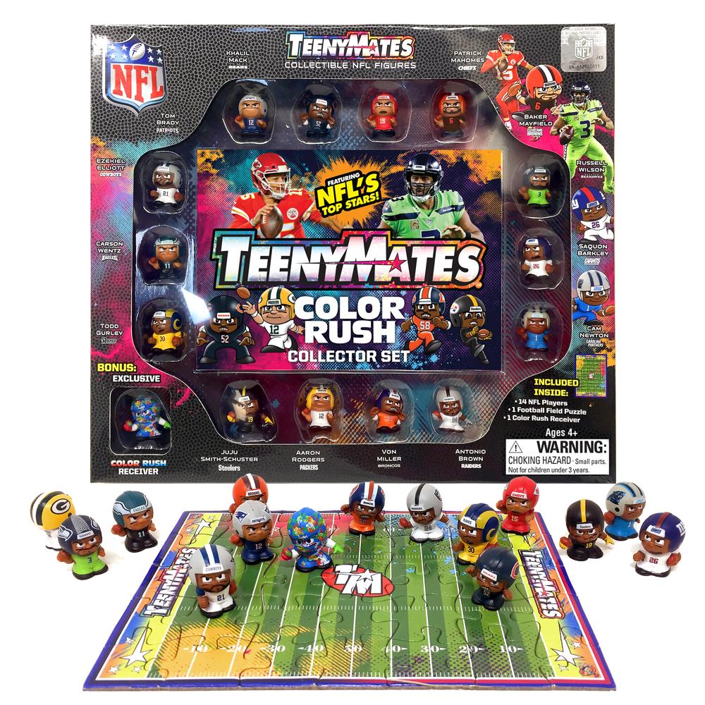 timeless design 371f0 7a895 TeenyMates 15 Figure NFL Color Rush Set
