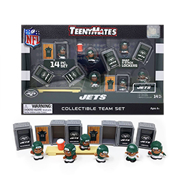 New York Jets TeenyMates Team Set