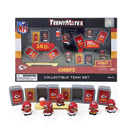 Kansas City Chiefs TeenyMates Team Set
