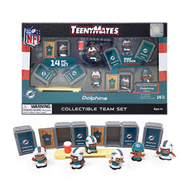 Miami Dolphins TeenyMates Team Set