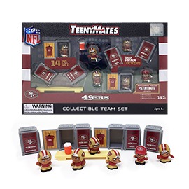 San Francisco 49ers TeenyMates Team Set