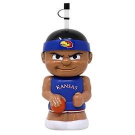 Kansas Jayhawks B-Ball Big Sip Water Bottle