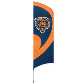 Chicago Bears Tall Team Flag Kit with Pole
