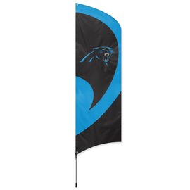 Carolina Panthers Tall Team Flag Kit with Pole