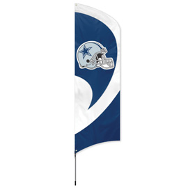 Dallas Cowboys Tall Team Flag Kit with Pole
