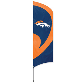Denver Broncos Tall Team Flag Kit with Pole
