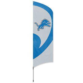 Detroit Lions Tall Team Flag Kit with Pole