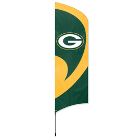 Green Bay Packers Tall Team Flag Kit with Pole