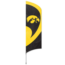 Iowa Tall Team Flag Kit with Pole