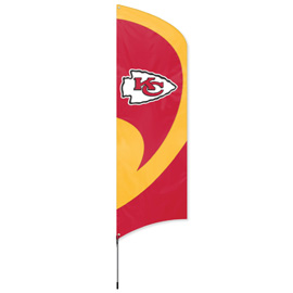 Kansas City Chiefs Tall Team Flag Kit with Pole