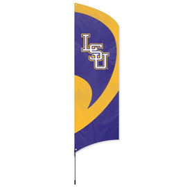 LSU Tall Team Flag Kit with Pole