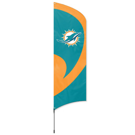 Miami Dolphins Tall Team Flag Kit with Pole