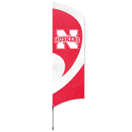 Nebraska Cornhuskers Tall Team Flag Kit with Pole